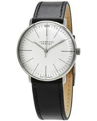 Junghans Max Bill Hand Wind Silver Dial Unisex Watch - Metallic