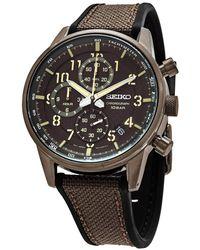 Seiko Chronograph Quartz Brown Dial Mens Watch