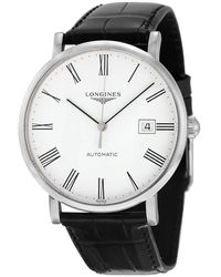 Longines Elegant Automatic White Dial Mens Watch L49104112 - Metallic
