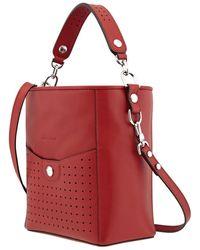 Longchamp Ladies Mademoiselle Bucket Bag S-garnet Red