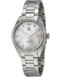 Tag Heuer Carrera Mother Of Pearl Dial Ladies Watch - Metallic