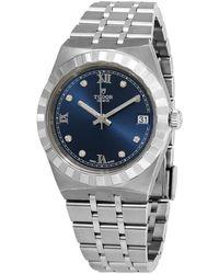Tudor Royal Diamond Blue Sunray Dial Watch -0007 - Multicolour