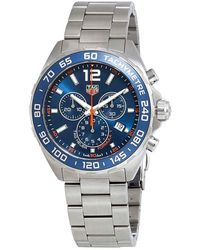 Tag Heuer Formula 1 Blue Sunray Dial Chronograph Mens Watch
