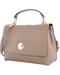 Coccinelle Ladies  Grain Leather Top Handle Bag - Brown