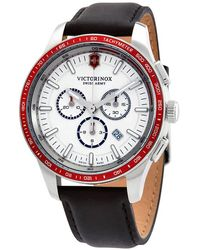 Victorinox Alliance Sport Chronograph Quartz White Dial Mens Watch - Red