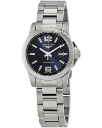 Longines Conquest Sunray Blue Dial Ladies Watch - Metallic
