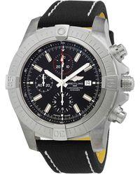 Breitling Super Avenger Chronograph Automatic Chronometer Black Dial Mens Watch
