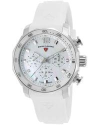 Swiss Legend Blue Geneve Ladies Watch 16192sm-02-wht - Metallic
