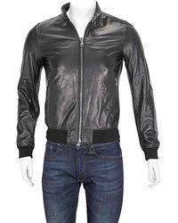 Ferragamo Ferragamo Mens Reversible Leather Jacket, Brand - Black