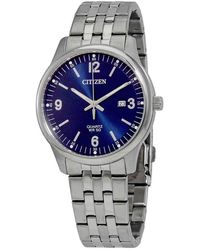 Citizen Quartz Stainless Steel Bracelet Watch, Created For Macy's, 40mm - Metallic