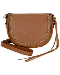 Rebecca Minkoff Unlined Leather Saddle Bag - Almond - Brown