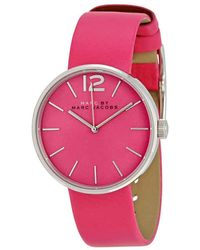 Marc By Marc Jacobs Peggy Pink Dial Pink Leather Ladies Watch