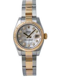 Rolex Pre-owned Datejust Automatic Chronometer Diamond Ladies Watch  Mdo - Metallic