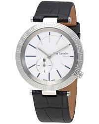 Guy Laroche White Dial Ladies Leather Watch -01 - Metallic