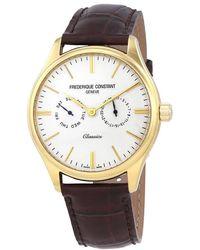 Frederique Constant Classic Silver Dial Mens Watch -259st5b5 - Metallic