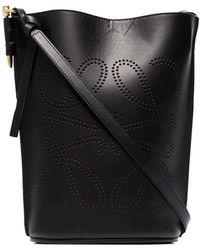 Loewe Gate Black Ladies Anagram Bucket Bag