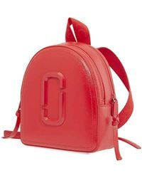 Marc Jacobs Pack Shot Dtm Backpack In Red Leather - Black