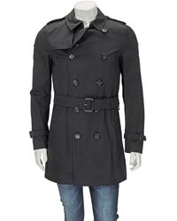 Burberry The Sandringham – Mid-length Trench Coat - Black