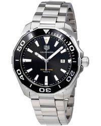 Tag Heuer Aquaracer Black Dial Quartz Mens Watch - Metallic
