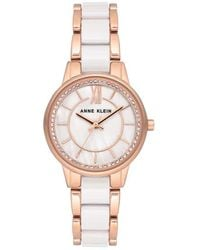 Anne Klein Mother Of Pearl Dial Watch - Pink
