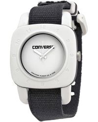 Converse 1908 Matte White Dial Black Canvas Unisex Watch -021-001