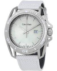 Calvin Klein Earth White Dial Mens Watch - Metallic