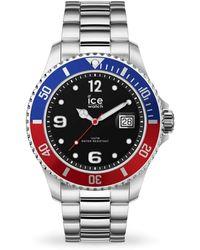 Ice-watch Quartz Black Dial Stainless Steel Watch - Metallic