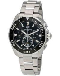 Tag Heuer Aquaracer Chronograph Black Dial Mens Watch - Metallic