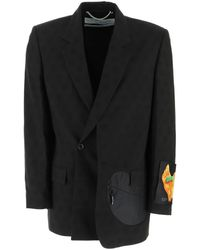 Off-White c/o Virgil Abloh Black / Multi Black Wool Blazer