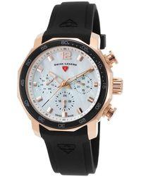 Swiss Legend Blue Geneve Mother Of Pearl Dial Ladies Watch 16192sm-rg-02-blkb - Metallic