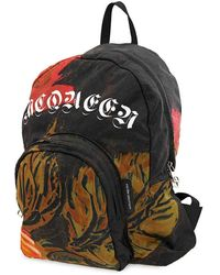 Alexander McQueen Mens Backpack Black/multi-smalll