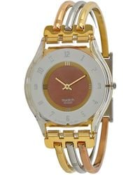 Swatch Open Box - Skin Classic Tri-colored Stainless Steel Ladies Watch - Metallic