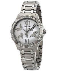 Concord Saratoga Diamond White Mother Of Pearl Dial Ladies Watch 320305 - Metallic