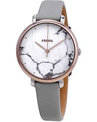 Fossil - Jacqueline White Marble Dial Ladies Watch - Lyst