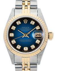 Rolex Pre-owned Datejust Automatic Chronometer Diamond Blue Dial Ladies Watch  Bldj - Multicolour