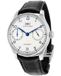 Iwc Portugieser Automatic Silver Dial Mens Watch - Metallic