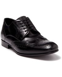 Burberry Brogue Detail Leather Derby Shoes - Black