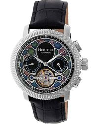Heritor Aura Automatic Black Dial Mens Watch