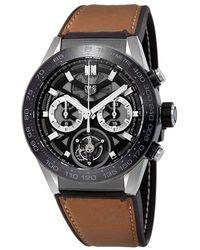 Tag Heuer Carrera Tourbillon Chronograph Automatic Mens Watch - Multicolour