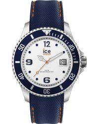 Ice-watch Quartz White Dial Blue Silicone Watch