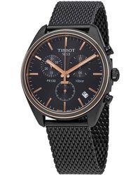 Tissot Pr 100 Chronograph Black Dial Mens Watch - Multicolour