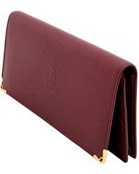 Cartier Leather Zipped International Wallet - Multicolour