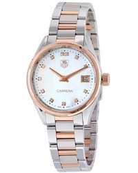 Tag Heuer - Carrera Mother Of Pearl Dial Ladies Watch - Lyst