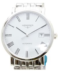 Longines Elegant Automatic White Dial Mens Watch - Metallic