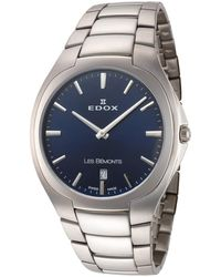 Edox Quartz Watch  3 Buin - Metallic