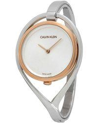Calvin Klein - Light Quartz Silver Dial Ladies Watch - Lyst