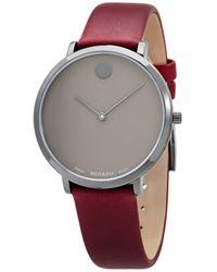 Movado - Modern 47 Quartz Grey Dial Watch - Lyst