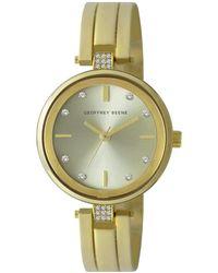 Geoffrey Beene Quartz Champagne Dial Watch - Metallic