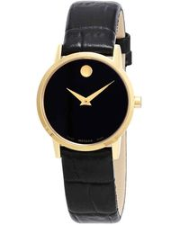 Movado Museum Black Dial Ladies Watch