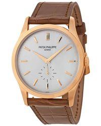 Patek Philippe Calatrava Opaline Dial 18k Rose Gold Mens Watch -001 - Multicolor